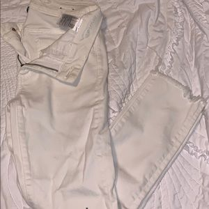 White cropped jegging